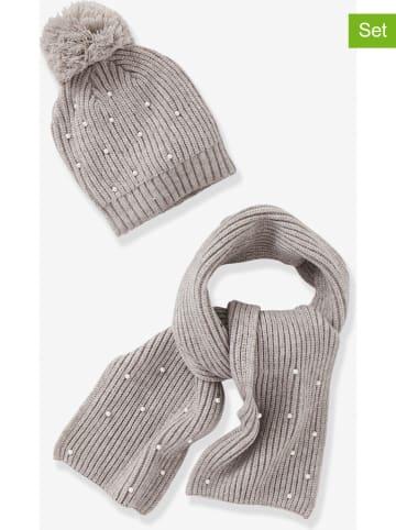 Vertbaudet 2-delige set: muts en sjaal grijs