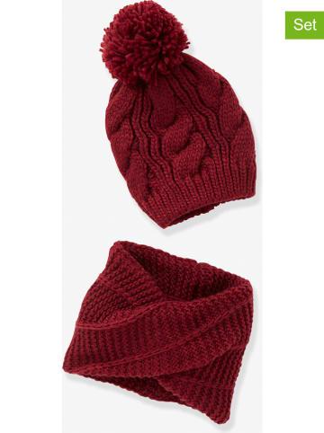Vertbaudet 2-delige set: muts en sjaal bordeaux