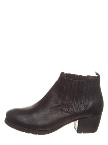 """Think! Leder-Ankle-Boots """"Obajo"""" in Schwarz"""