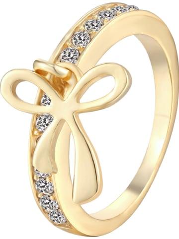 METROPOLITAN Pozłacany pierścionek z kryształami Swarovski