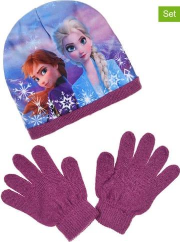 """Disney Frozen 2-częściowy zestaw zimowy """"Frozen"""" w kolorze fioletowo-niebieskim"""