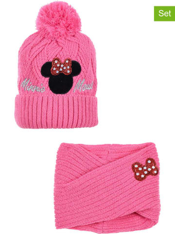 """Disney Minnie Mouse 2tlg. Winteraccessoires-Set """"Minnie Mouse"""" in Pink"""