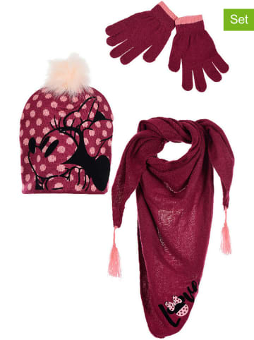 """Disney Minnie Mouse 3tlg. Winteraccessoires-Set """"Minnie Mouse"""" in Pink"""