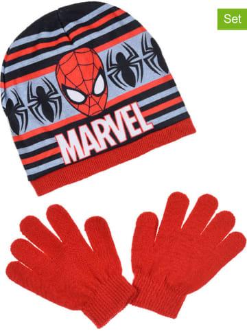 """Spiderman 2-częściowy zestaw zimowy """"Spider-Man"""" w kolorze czerwonym"""