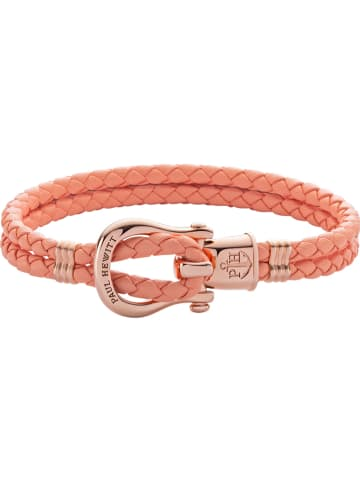 """Paul Hewitt Leder-Armband """"Phinity"""" in Apricot"""