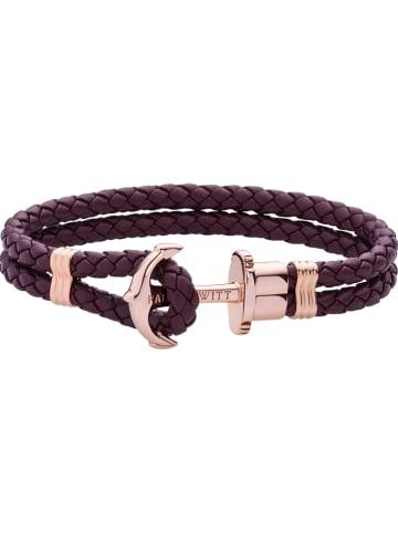 """Paul Hewitt Leren armband """"Anchor"""" paars"""