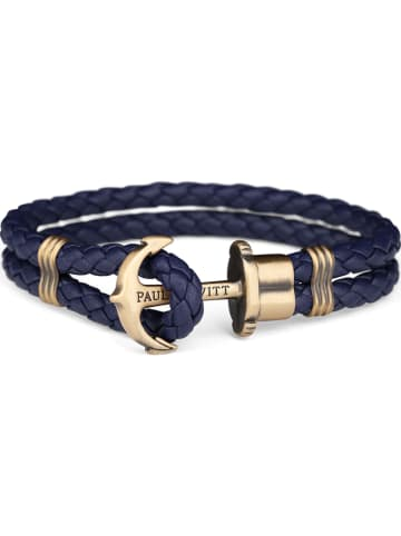 "Paul Hewitt Leder-Armband ""Anchor"" in Dunkelblau"