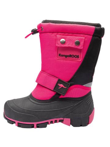 "Kangaroos Botki zimowe ""Kanga-Bean II"" w kolorze różowo-czarnym"