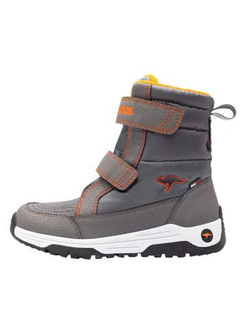 "Kangaroos Winterboots ""K-Major V RTX"" grijs/oranje"