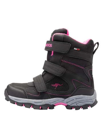 "Kangaroos Winterboots ""K-Robi RTX"" in Schwarz/Pink"