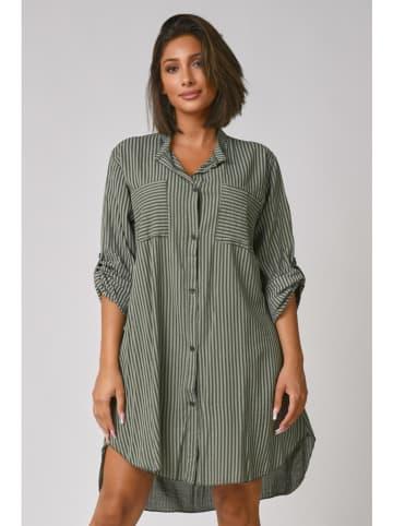 "Plus Size Company Kleid ""Ava"" in Khaki"