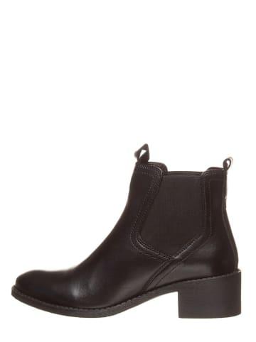 CAFèNOIR Leder-Chelsea-Boots in Schwarz