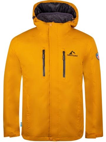 """Westfjord Kurtka funkcyjna 3w1 """"Hverfjall"""" w kolorze żółtym"""