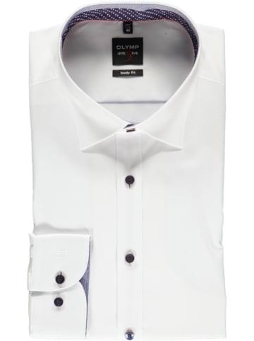 """OLYMP Koszula """"Level 5"""" - Body fit - w kolorze białym"""