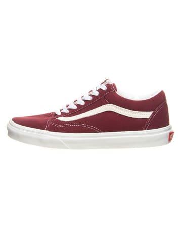 """Vans Leren sneakers """"Old Skool"""" rood"""