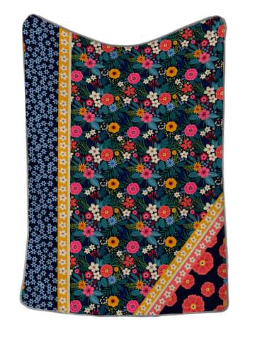 "Surdic Wohndecke ""Flowers"" in Bunt - (L)170 x (B)130 cm"