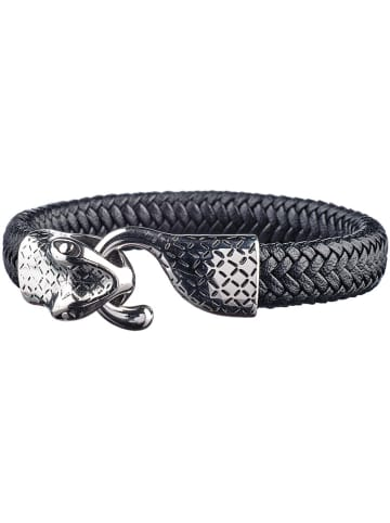 "Bastille baobab Leren armband ""Neuilly"" zwart"