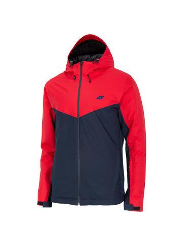 4F Kurtka narciarska w kolorze czarno-czerwonym