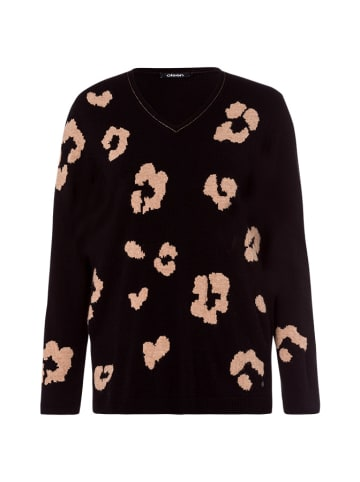 Olsen Sweter w kolorze czarno-beżowym ze wzorem