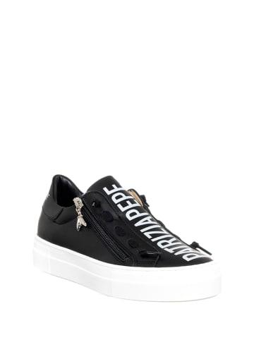 Patrizia Pepe Skórzane sneakersy w kolorze czarnym