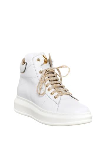 Patrizia Pepe Skórzane sneakersy w kolorze białym