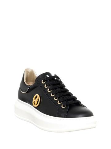 Patrizia Pepe Leder-Sneakers in Schwarz