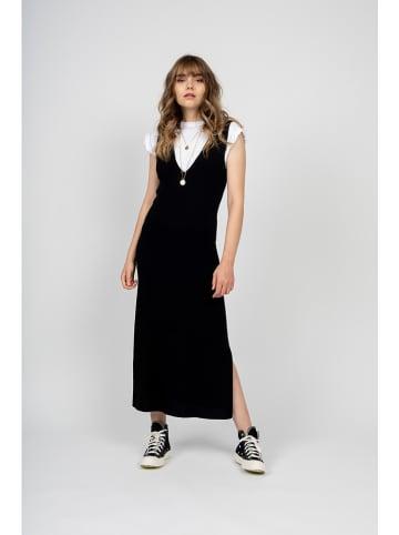 """Just Cashmere Kasjmier jurk """"Tessa"""" zwart"""