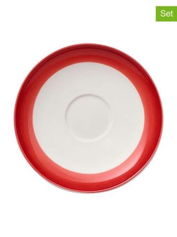 """Villeroy & Boch Spodek """"Colourful Life"""" (6 szt.) w kolorze biało-czerwonym - Ø 12 cm"""