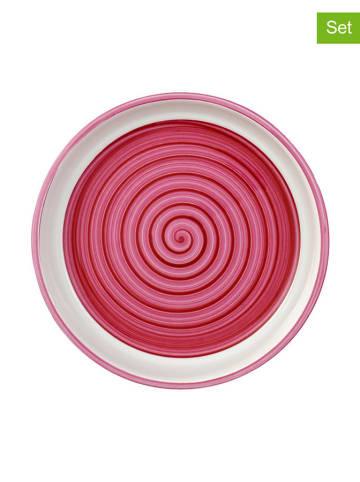 """Villeroy & Boch Talerz """"Clever Cooking"""" (6 szt.) w kolorze różowym na przekąski - Ø 17 cm"""