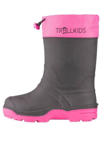 """Trollkids Winterstiefel """"Isfjord"""" in Schwarz/ Pink"""