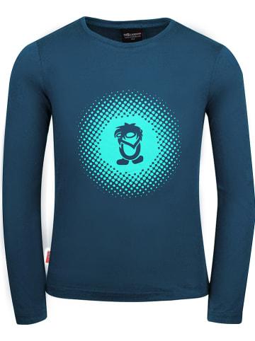"""Trollkids Functioneel shirt """"Pointillism"""" blauw"""