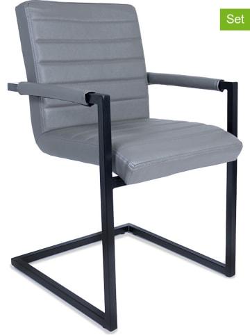 """Lifa Living Krzesła (2 szt.) """"Adelaide"""" w kolorze szarym - 45 x 84 x 54 cm"""