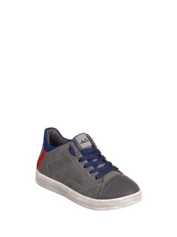 Chetto Skórzane sneakersy w kolorze szarym