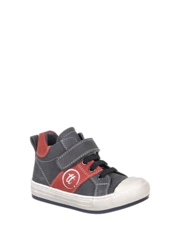 Chetto Skórzane sneakersy w kolorze granatowo-czerwonym