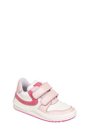 Chetto Skórzane sneakersy w kolorze biało-różowym