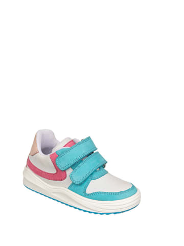 Chetto Skórzane sneakersy w kolorze biało-seledynowo-różowym