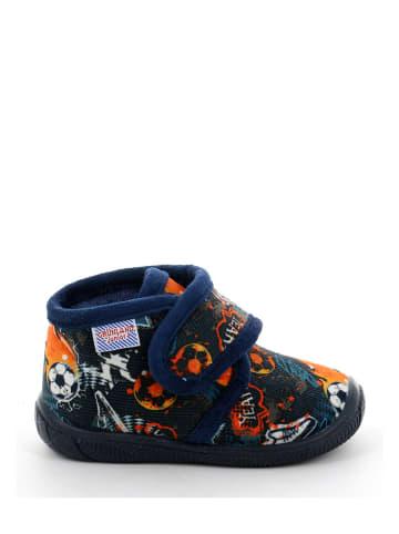 Grünland Junior Pantoffels donkerblauw/oranje