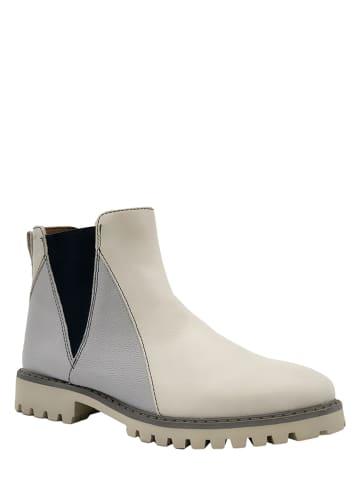 """Marc Shoes Skórzane sztyblety """"Fia"""" w kolorze beżowym"""
