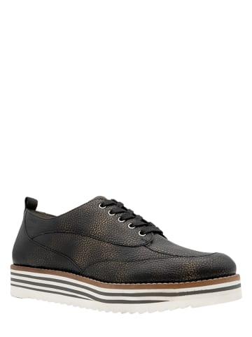 """Marc Shoes Skórzane trzewiki """"Mila"""" w kolorze czarnym"""