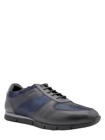 """Marc Shoes Leren sneakers """"Lotta"""" zwart"""