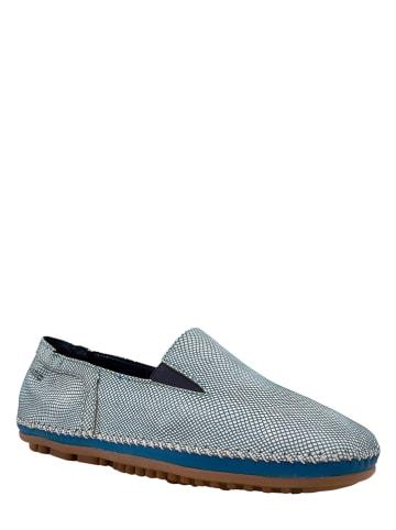 Marc Shoes Skórzane slippersy w kolorze niebieskim
