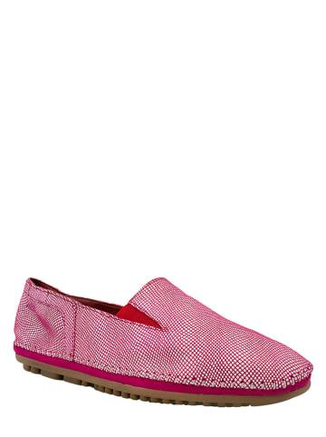 Marc Shoes Skórzane slippersy w kolorze różowym
