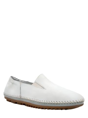 Marc Shoes Skórzane slippersy w kolorze białym