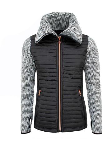 Peak Mountain Fleece vest grijs/zwart