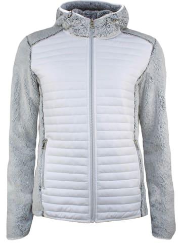 Peak Mountain Fleece vest grijs/wit