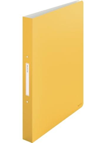 """Leitz Segregator """"Cosy"""" w kolorze żółtym - A4"""