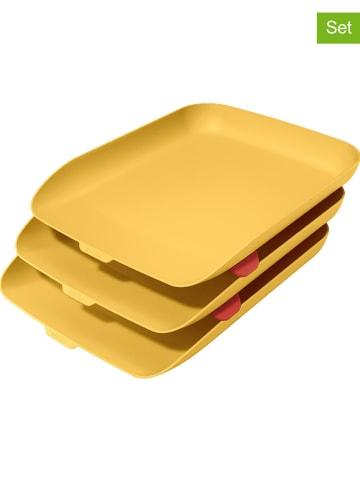 """Leitz 3-delige set: brievenbakken """"Cosy"""" geel - A4"""