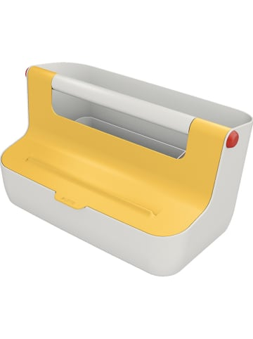 """Leitz Pudełko """"Cosy"""" w kolorze żółtym - 21,4 x 19,6 x 36,7 cm"""