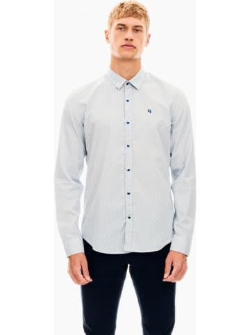 Garcia Koszula - Regular fit - w kolorze biało-szarym