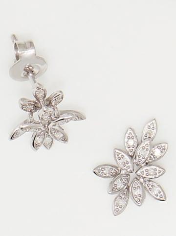 """DIAMOND & CO Weißgold-Ohrstecker """"Bouquet"""" mit Diamanten"""